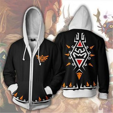 MOCODAR 2019 The Legend of Zelda 3D Print Sweatshirts Casual Coat Novelty Streetwear