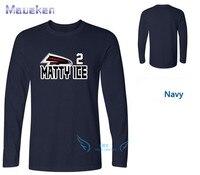 2018 Quality printing Matt Ryan Atlanta Matty Ice long sleeve fans T Shirt 100% cotton ls T Shirts Men Wear 0115 1