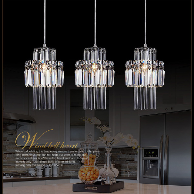 Free Shipping Kitchen Chandelier Crystal Lamp 3 Lights Big