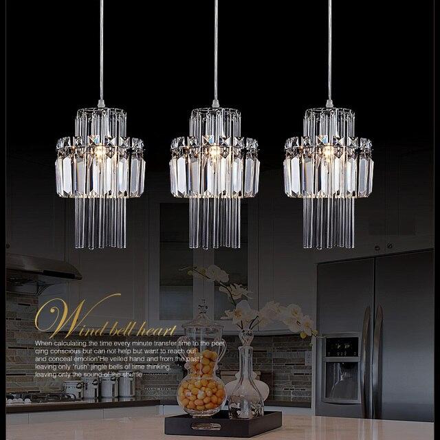 Livraison gratuite cuisine lustre en cristal lampe 3 lumières gros ...