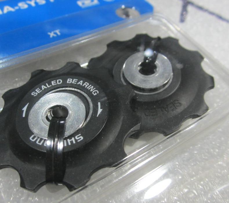 دليل biciclea عجلة الدراجة الفارس عجلات mtb الطريق دراجة الخلفي derailleur الألومنيوم البكرة ل RD-M786 / M781 / M780 / M773 10 سرعة