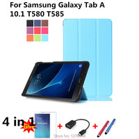 For Samsung T580 Leather Case Cover Capa Para For Samsung Galaxy Tab A 10 1 T580
