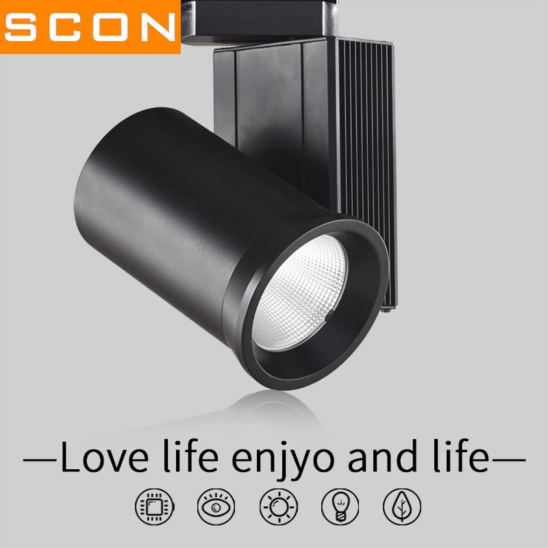 Scon ac220v led track lamp 24w40w spotlight modern style natural scon ac220v led track lamp 24w40w spotlight modern style natural light clothing store commercial concourse indoor lighting in led spotlights from lights mozeypictures Image collections