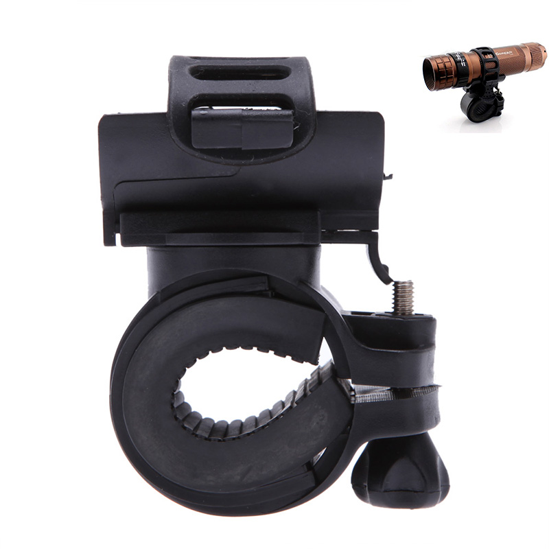 Clip Light-Holder Bike-Clamp Bicycle Flashlight Cycling-Grip-Mount Led-Torch Rotatable
