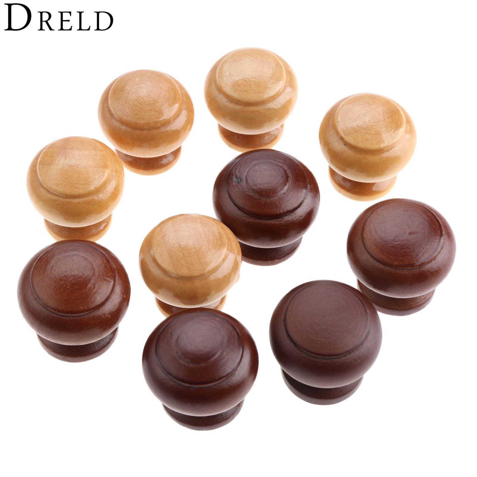 DRELD 5Pcs Wooden Kitchen Drawer Cabinet Knobs and Handles Closet Cupboard Furniture Handles Door Wood Pulls Furniture Hardware chic sunflower pewter kitchen cabinet knobs drawer dresser pulls handles cupboard closet door knob modern furniture hardware