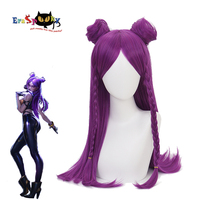 League Of Legends Cosplay LOL Kaisa Wig Daughter Of The Void Costume Game Purple Long Wig Women Heat Resistant Synthetic Hair