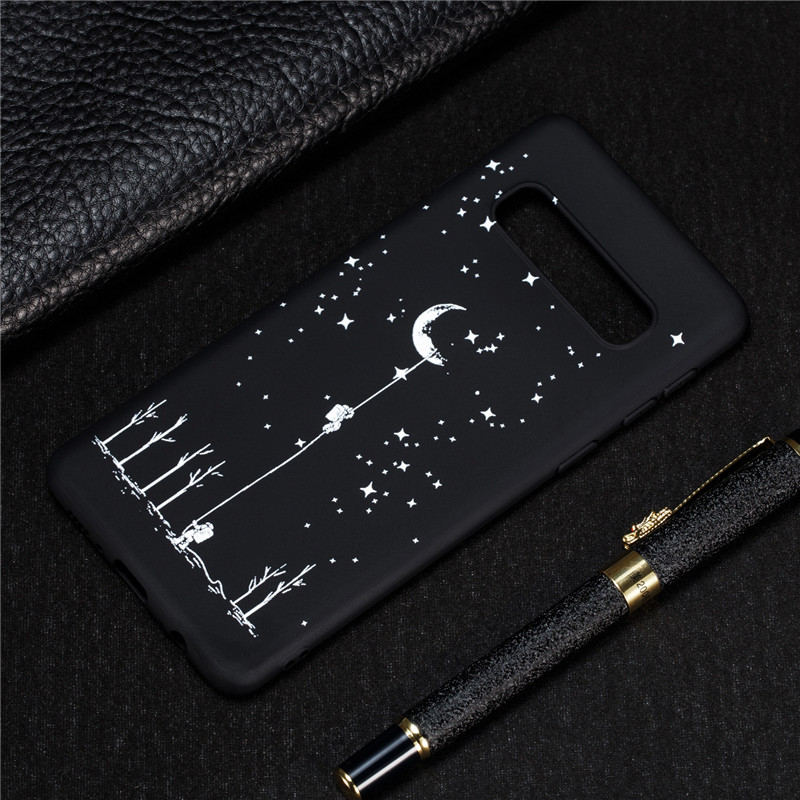 Astronaut Case On For Coque Samsung Galaxy S10 Case Cover For Samsung S10 Plus S10e S 10 S10plus Space Moon Soft Silicon Cases