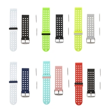 OOTDTY 18mm Silicone Dual Color Smart Watch Strap for Samsung Gear S3 Amazfit Pace  Accessories Replacement