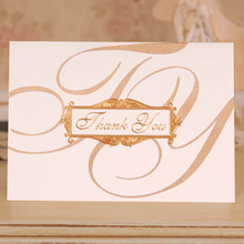 12set thank you theme Thanksgiving Day Card gold decorate Lucky Love Christmas Party Invitation with envelope