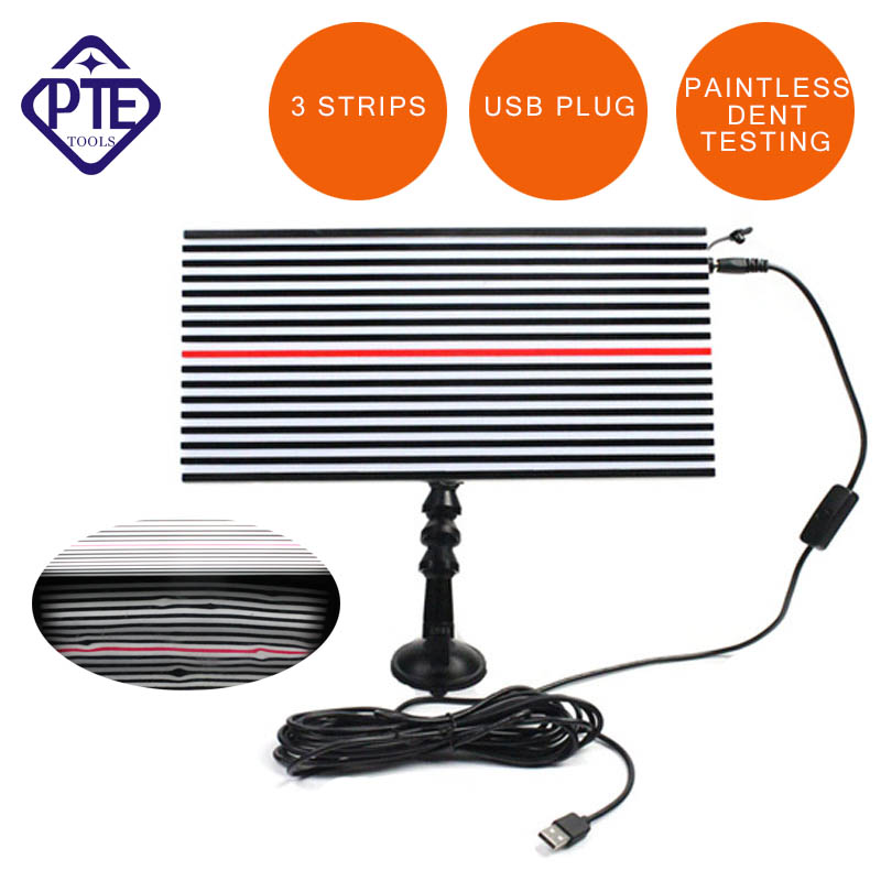 LED Line Board Light Lamp Auto Body Paintless Pit Dent Testing Repair PDR Tool pdr tools dent removal car dent repair led lamp reflector board led light reflection board with adjustable holder