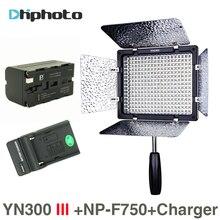 YONGNUO YN300 III 5500 К 300 светодиодный свет на Камера освещение для свадьбы YN300III светодиодный Панель свет с NP-F750 батареи зарядное устройство
