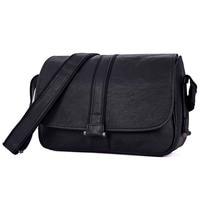 JMD из натуральной кожи брендовые черные Для мужчин сумка слинг кроссбоди мешок 1030A