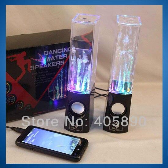 USB LED Light Dancing Water Speaker Led Portable Speaker for PC MP3 MP4 PSP