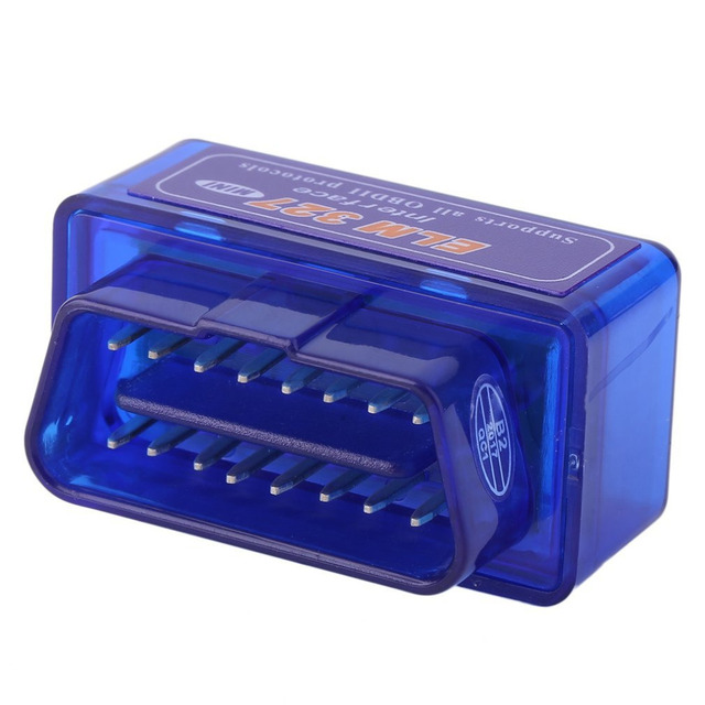 Mini Portable ELM327 V2.1 OBD2 II Bluetooth Diagnostic Car Auto Interface Scanner Blue Premium ABS Diagnostic Tool for Android