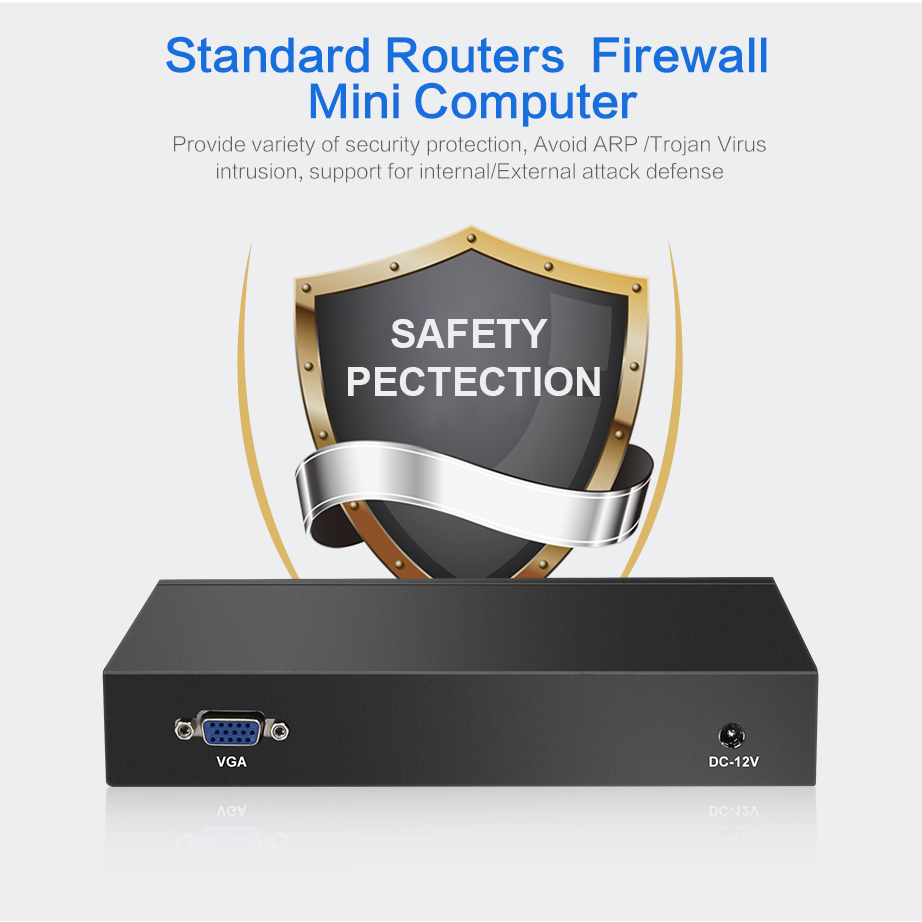 Intel Celeron J1800 Firewall Router 4 LAN Intel i211AT Gigabit - Mini PC - foto 3