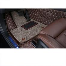 lsrtw2017 fiber leather car interior floor mat for bmw x5 2019 2020 2021 G05
