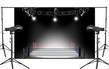 Exquisite Dark Environment Flashing Light Shot Under Boxing Match Scene Studio Photography Background 150x220cm