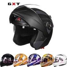 2017 Новый GXT открыть полный мотоциклетный шлем двойной линзы undrap лицо мотоцикл шлемы с анти-туман линзы изготовлены из ABS размер L XL G158