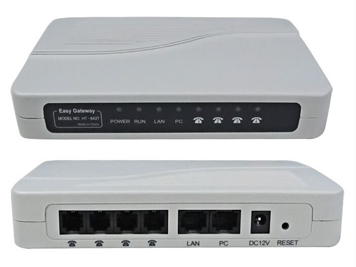 2016 HT-842T VOIP gateway Provide 4 RJ-11 port Multi-language 4 FXS ports VOIP Gateway ,VoIP ATA