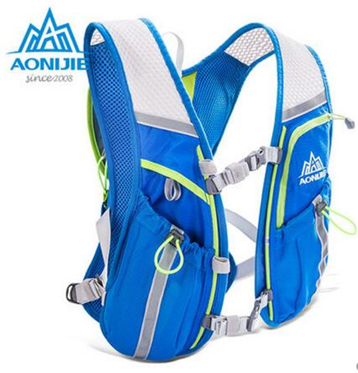 AONIJIE Men Women Lightweight Running Backpack Outdoor Sports Marathon Cycling Hiking Bag With Optional 1.5L Hydration Water Bag harlem hl1087 outdoor sports tpu backpack water bag dark green 2l