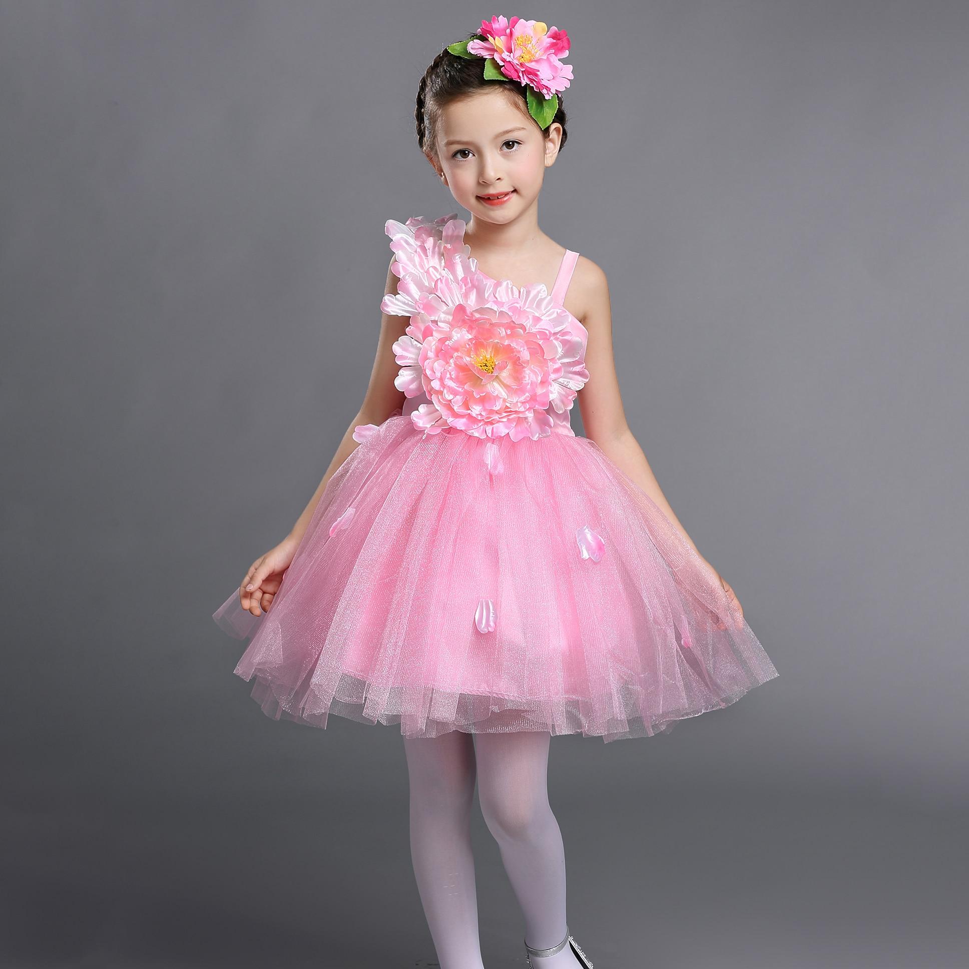 2 12 años Niñas ocasión especial vestido niños danza traje Rosa ...