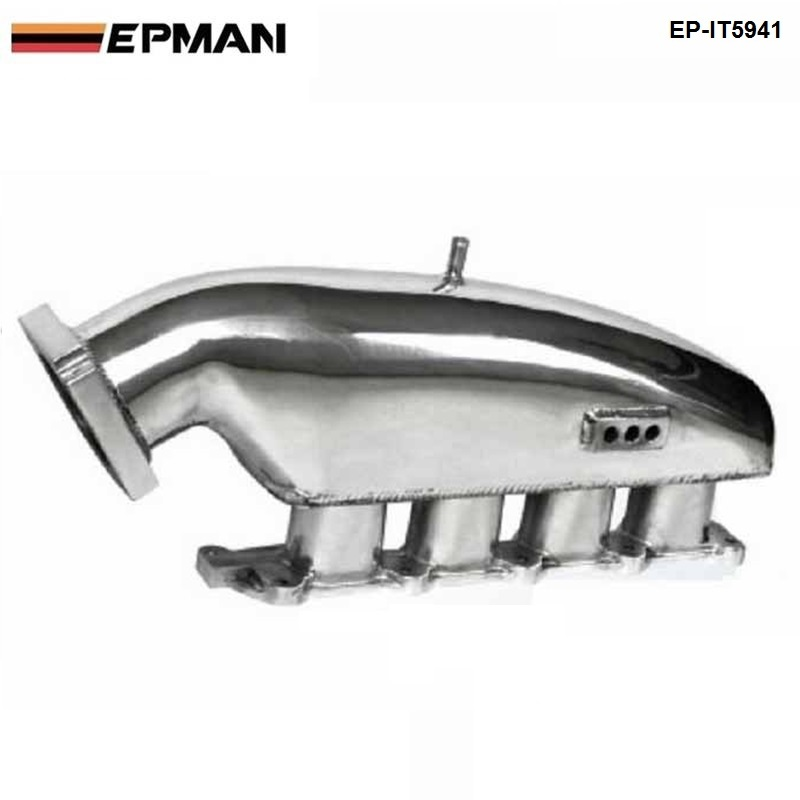 For MITSUBISHI EVO 1-3 Cast Aluminum Turbo Intake Manifold Polished Jdm high Performance EP-IT5941 epman universal black 3 76mm polished aluminum fmic intercooler piping kit diy pipe length 600mm for bmw e46 ep lgtj76 600