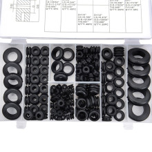 180 шт комплект прокладок высокого качества черная резиновая шайба уплотнения втулки ассортимент набор запасных частей кабель проводки с коробкой#294382
