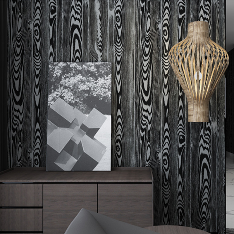 3d wallpaper black pvc wall panel chocolate wooden wall murals white