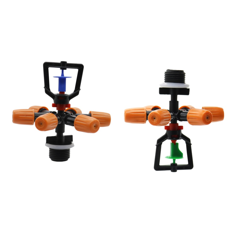 360 Degrees Multi-nozzle Sprinkler Agriculture Greenhouse Spray Up Vertically, Suspension Nozzle Water Fogger 1 Pcs