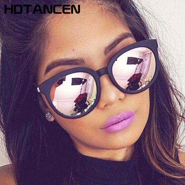 8989d9c0085c0 HDTANCEN rosa do olho de gato óculos de sol shades espelho feminino óculos  de sol quadrados
