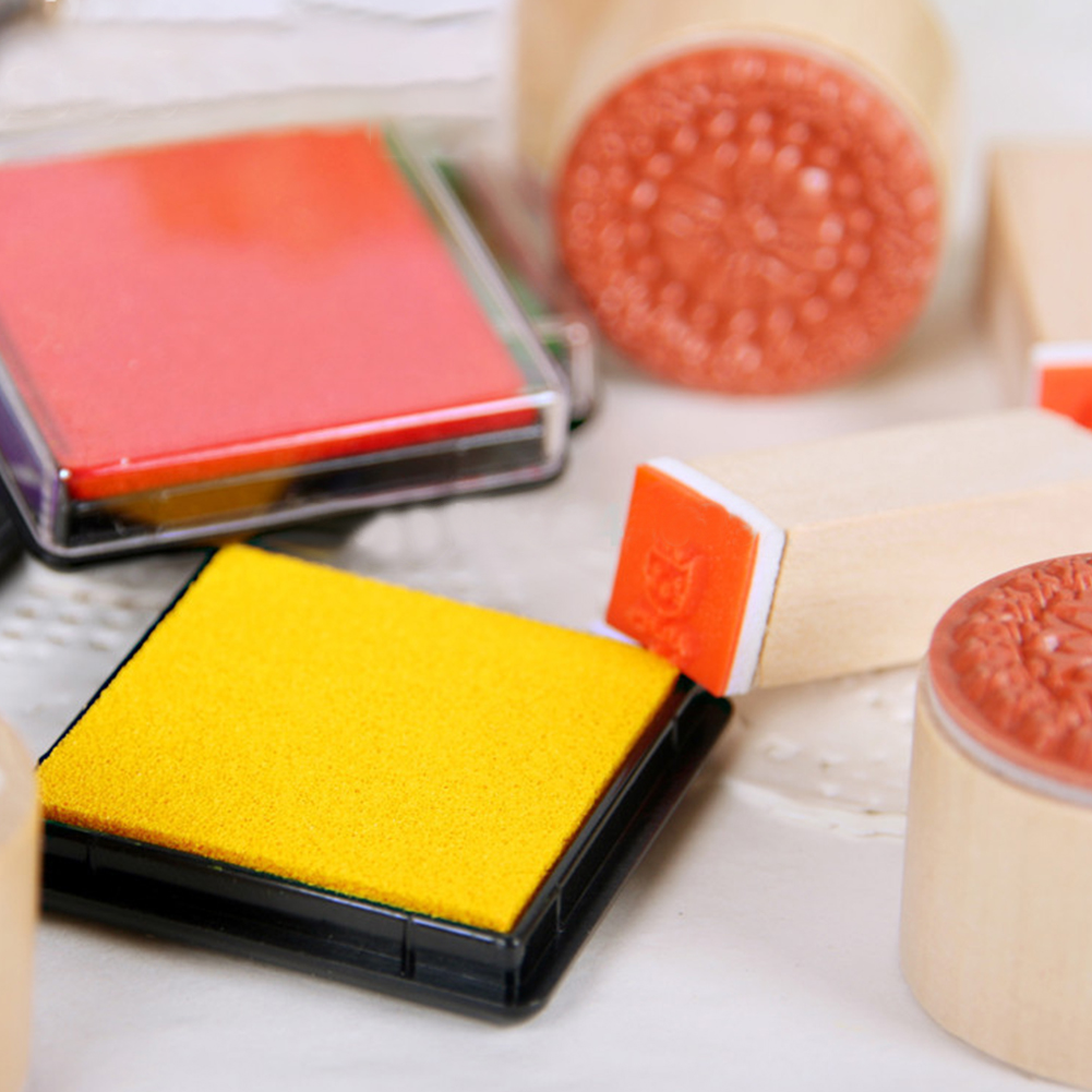 Hot New Sale Colorful Ink Pad Fingerprint Stamp And Craft Oil
