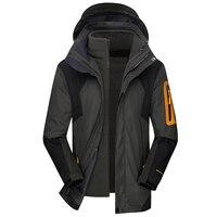 Hiking Jackets Men 3 In 1 Style Outdoors Windbreaker 2019 New 2 In 1 Keep Warm Trekking Coats 2 Piece Set Winter Camping Jacket