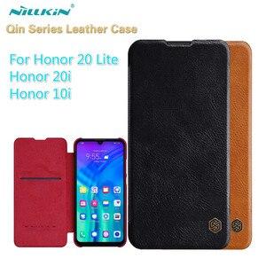 Image 1 - Huawei Honor 20 Lite Capa Original Nillkin Qin PU étui en cuir Honor 10i étui à rabat pour Huawei Honor 20i 10i sac de livre daffaires