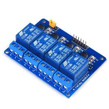 10PCS 4 Channle 24V Relay Module Relay Expansion Board 24V low level Triggered 4way Relay Module for Arduino