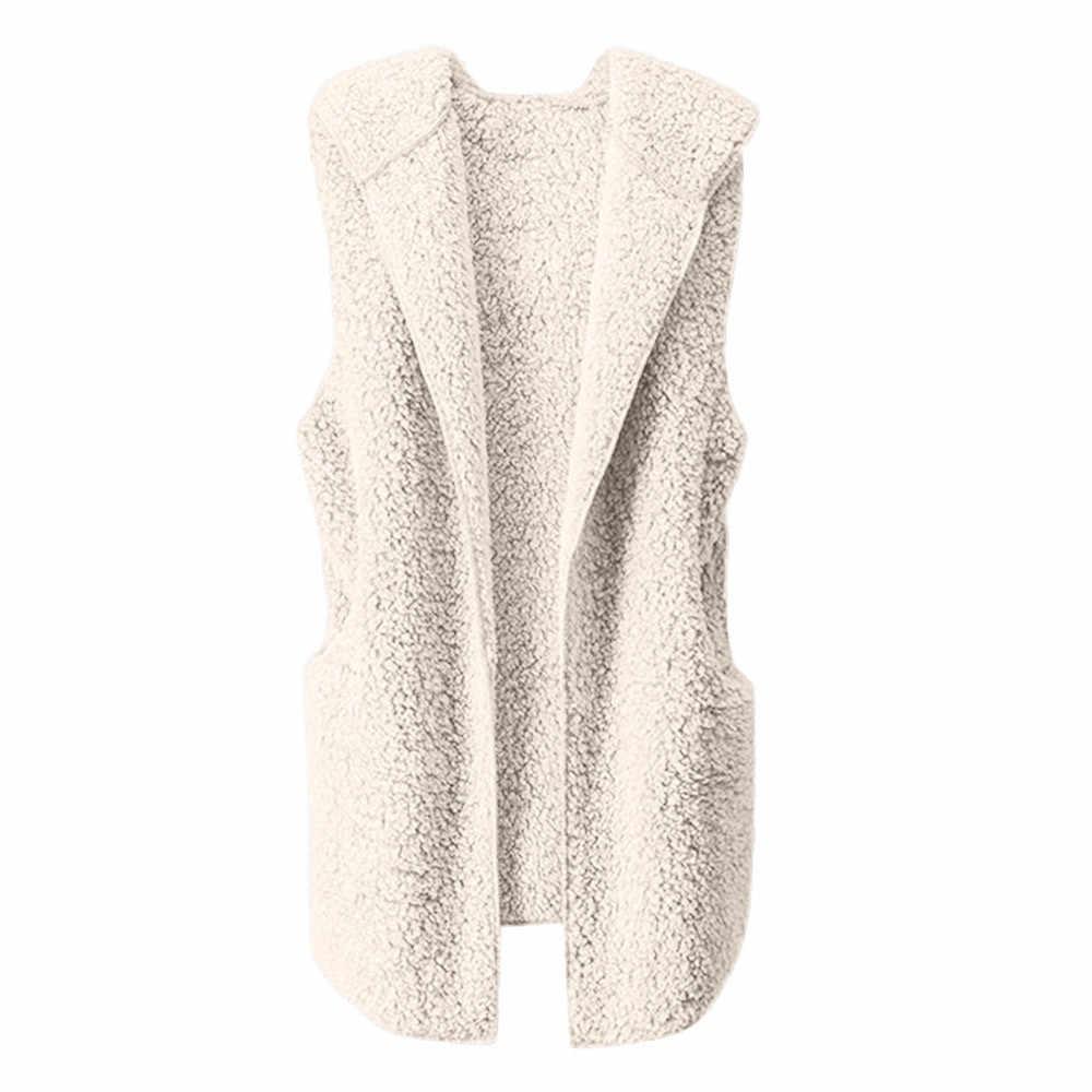 Mujer chaleco chaqueta invierno 2018 rosa amarillo largo cálido con capucha Chaleco de talla grande Chamarra Cazadora abrigo de mujer para niñas 18Oct22