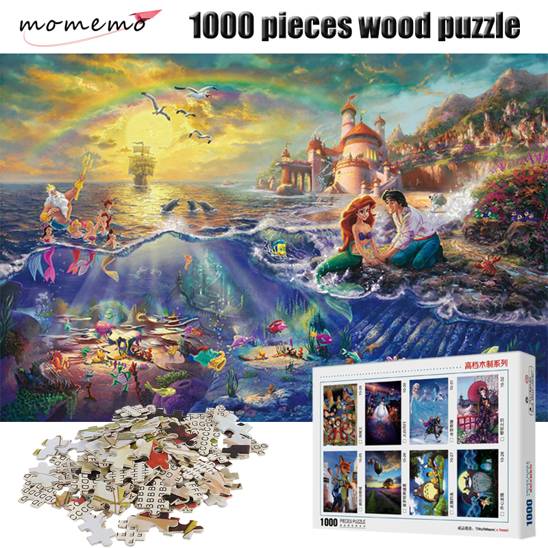 MOMEMO The Mermaid Figure Puzzle 1000 Pieces Cartoon Anime Jigsaw Puzzle For Adult Children's Educational Toys Puzzle Game