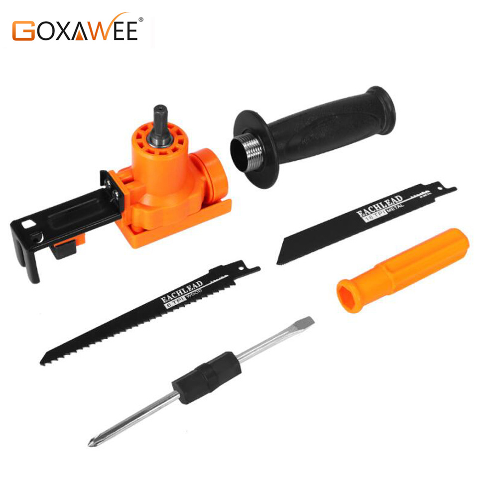 GOXAWEE 6pcs Reciprocating Saw Electric Saber Saw Reciprocating Saw Attachment For Wood Metal Chain Saws Cutting Power Tool