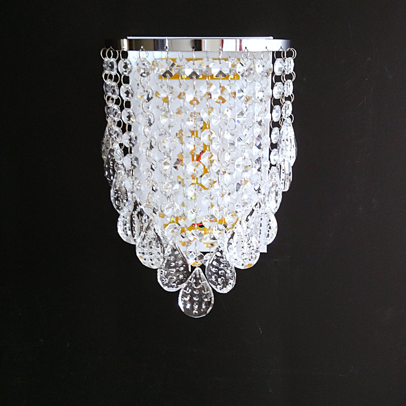 где купить  LED k9 crystal wall lamp  modern sconces bed room light  living room lighting fixture free shipping  дешево
