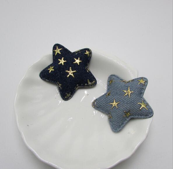 4,8 см DIY детские головные уборы аксессуары, джинсовая звезда Kawaii Детские нашивки для детской одежды аксессуары
