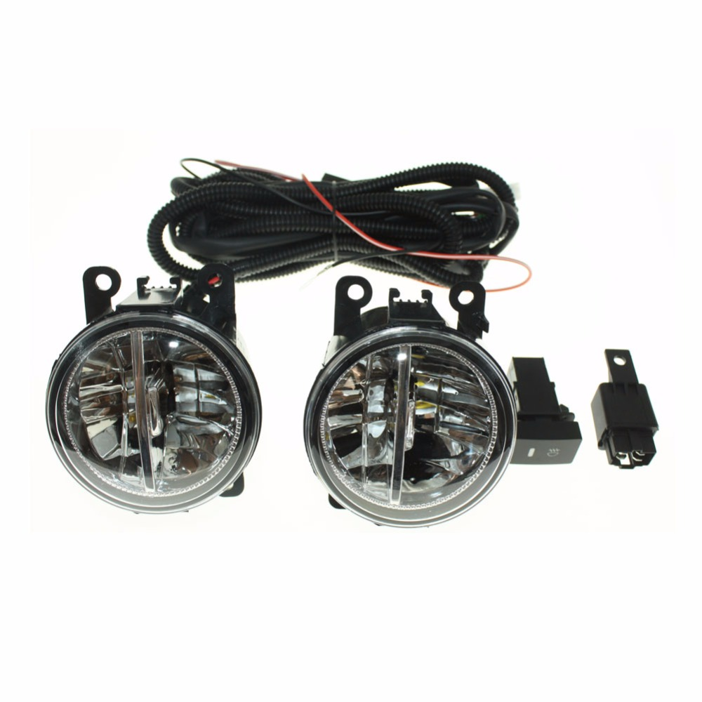 For CITROEN C4 Picasso UD_ MPV 07-15  H11 Wiring Harness Sockets Wire Connector Switch + 2 Fog Lights DRL Front Bumper LED Lamp for opel astra h gtc 2005 15 h11 wiring harness sockets wire connector switch 2 fog lights drl front bumper 5d lens led lamp