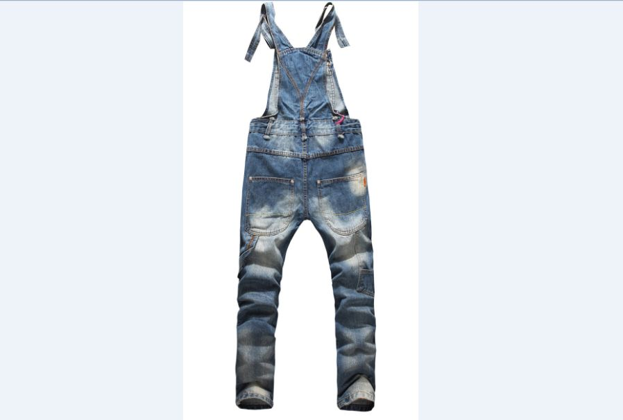 Men's Clothing 2017 European American Style Fashion Men Hip Hop Skinny Overalls Pants Skinny Ripped Jeans Plus Size 5xl Denim Jumpsuit 021408