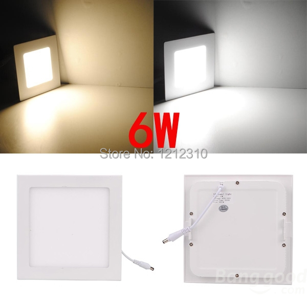 5PCS LOT 6w panel light Free shipping High quality 2835 smd led ceiling light for home