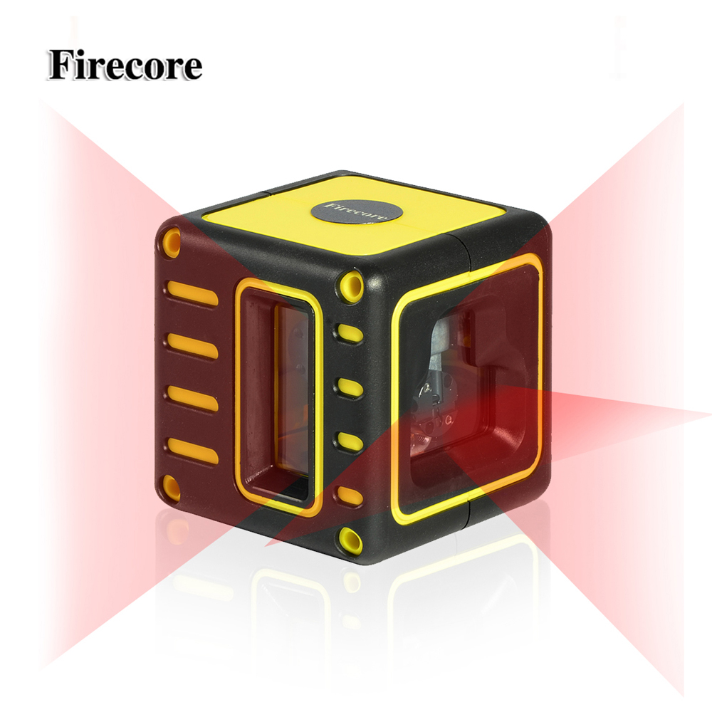 Firecore F212R Mini Portable 3 Lines Laser Level 2V1H self leveling(4 degrees) Horizontal and Vertical Lines
