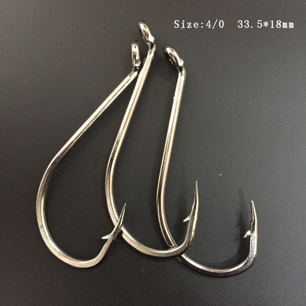 Cn05 4 0 100pcs pack stainless steel octopus fishing hook for Octopus fishing hook