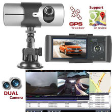 1080P GPS Car DVR Camera Dash Cam Car Video Recorder Accident Recorder Surveillance 2.7 Inch G-Sensor Dual Lens Night Vision