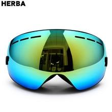 New HERBA Children Snowboard Goggles For Boys Girls Skiing Eyewear Winter Sports Specialty Protection Kids Glasses Ski Glass HB9