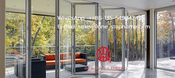 Modern Interior House Main Door Design Aluminium Folding Door, Bi-Fold Door Design Exterior Patio Doors