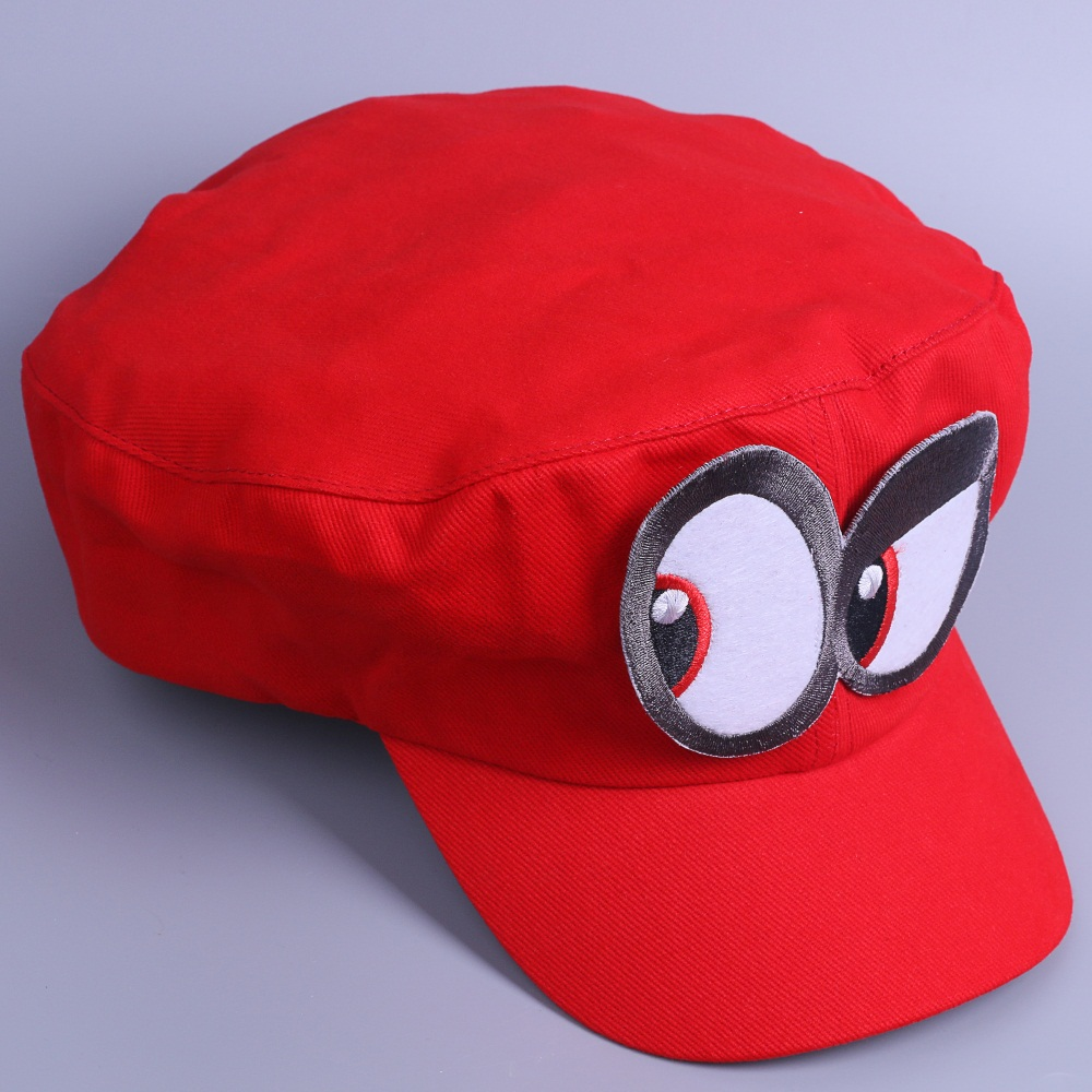 Game Super Mario Odyssey Cap Cosplay Red Mario Hat Adult Kids Halloween Prop New4