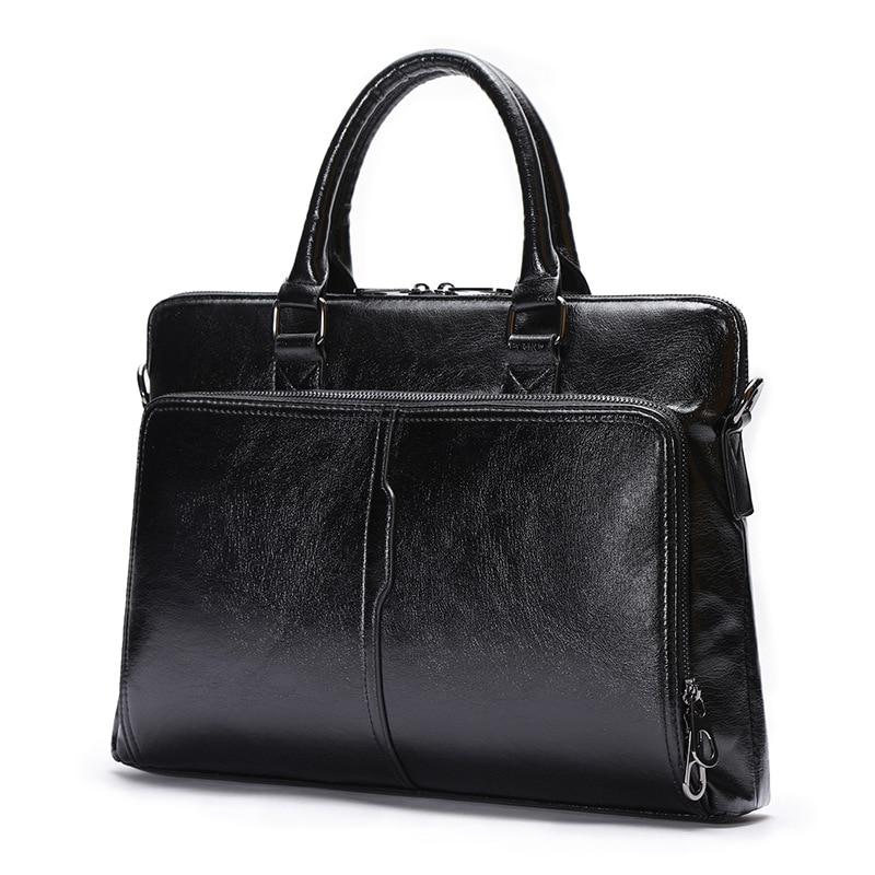 Quality PU Leather Laptop Bag for Documents Business Handbag Shoulder Bags Briefcase Leather Crossbody Bag Men