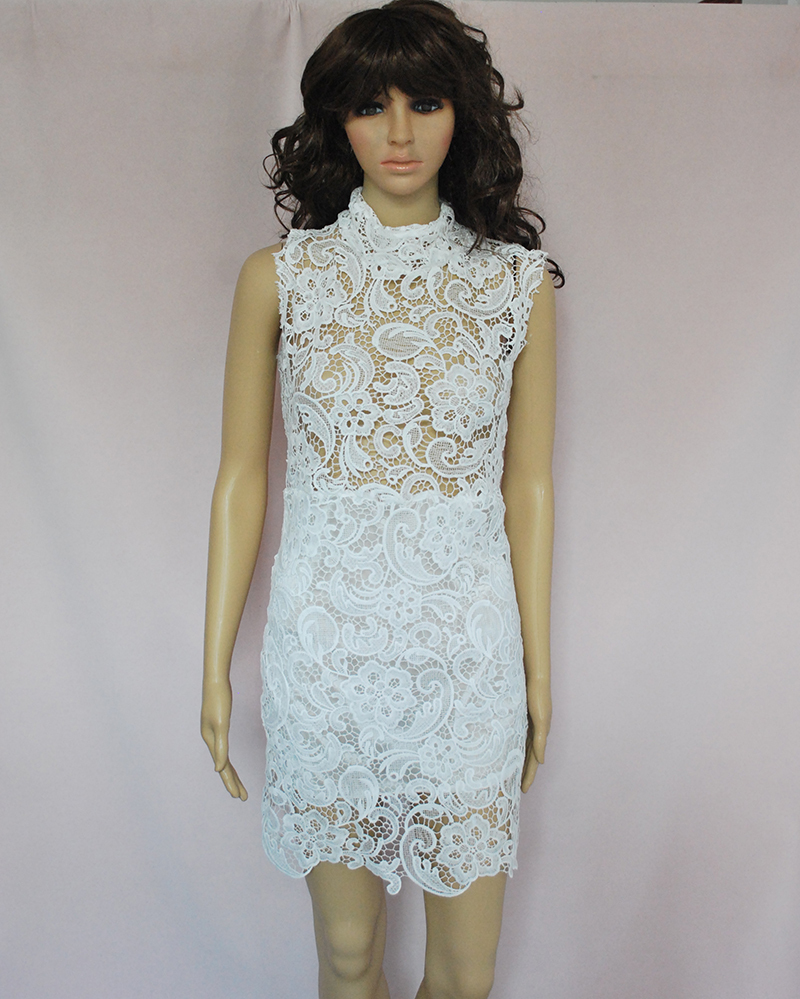 vestido de festa 2015 Fashion Spring Women Crochet Lace Dress ...